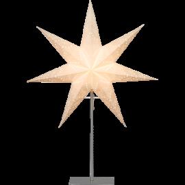 Papīra zvaigzne uz statīva balta E14 52x78cm Sensy 234-24
