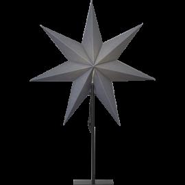 Papīra zvaigzne uz statīva melna E14 55x75cm Ozen 232-82