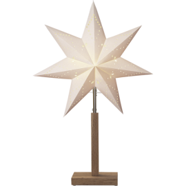 Papīra zvaigzne uz statīva balta E14 34x55cm Karo 232-00