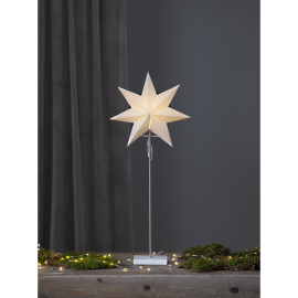 Papīra zvaigzne uz statīva balta E14 34x80cm Totto 233-20
