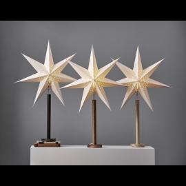 Papīra zvaigzne uz statīva balta E14 60x85cm Elice 234-95