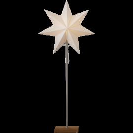 Papīra zvaigzne uz statīva balta E14 34x80cm Totto 233-22
