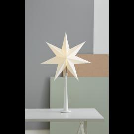 Papīra zvaigzne uz statīva balta E14 54x80cm Paint snow 243-24