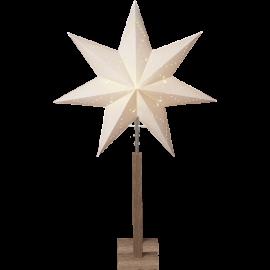 Papīra zvaigzne uz statīva balta E14 60x100cm Karo 232-07