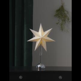 LED papīra zvaigzne uz statīva balta 2,76W 35x55cm Lottie 234-78