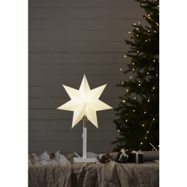 Papīra zvaigzne uz statīva balta E14 34x52cm Frozen 232-25