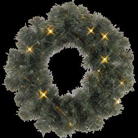 Ziemassvētku Vainagi 38cm 16 LED lampiņas Zaļš 612-13