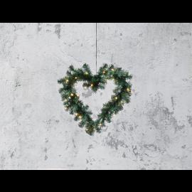 Ziemassvētku Vainagi 50cm 30 LED lampiņas Zaļš 612-19